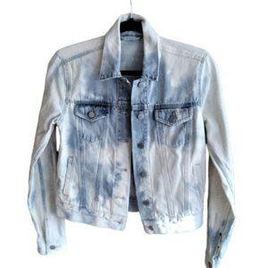 One of a kind reverse tie dye denim jean jacket